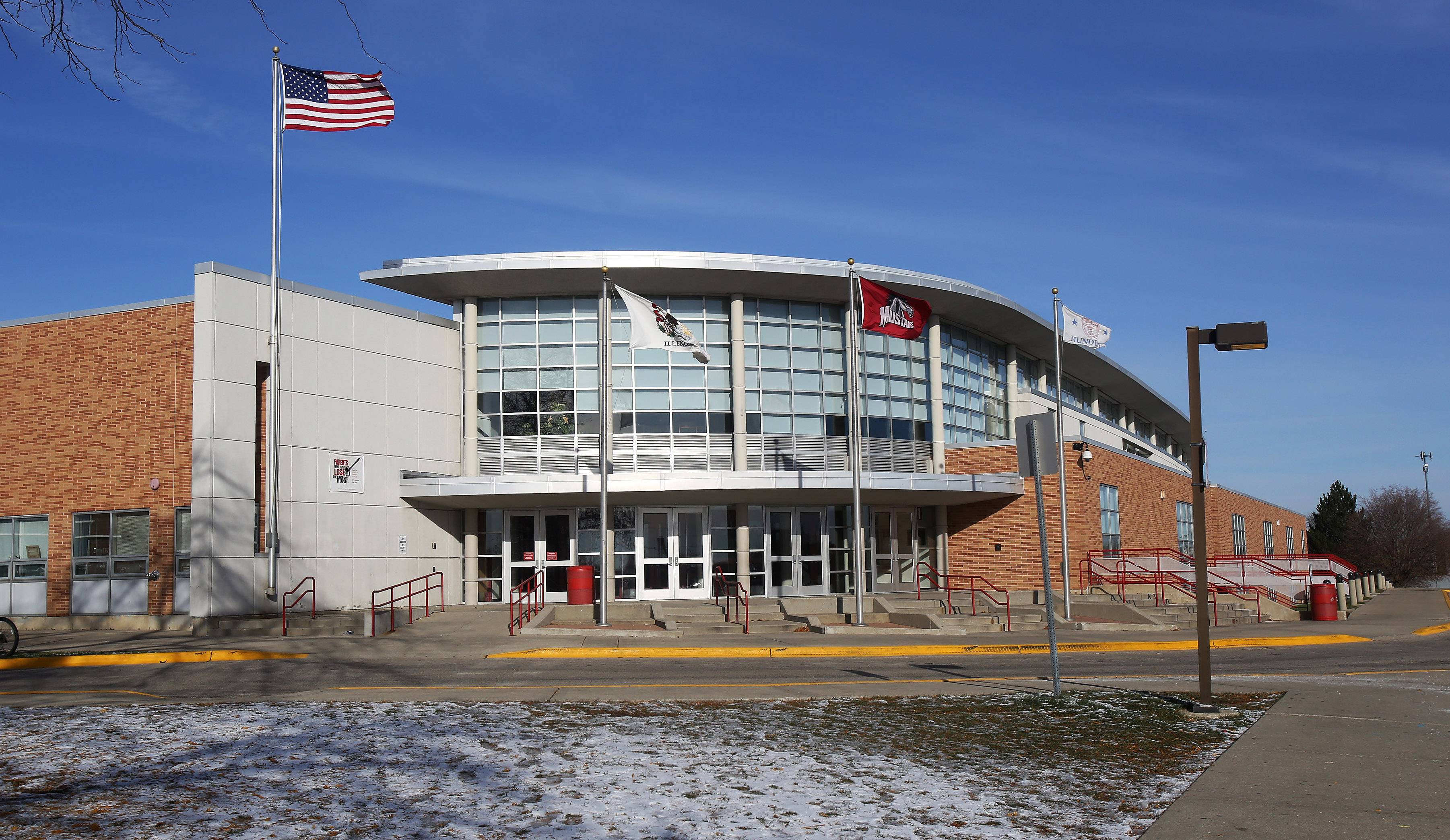 Mundelein High School officials are considering changing the school's block schedule, which calls for four periods each day instead of the traditional eight.