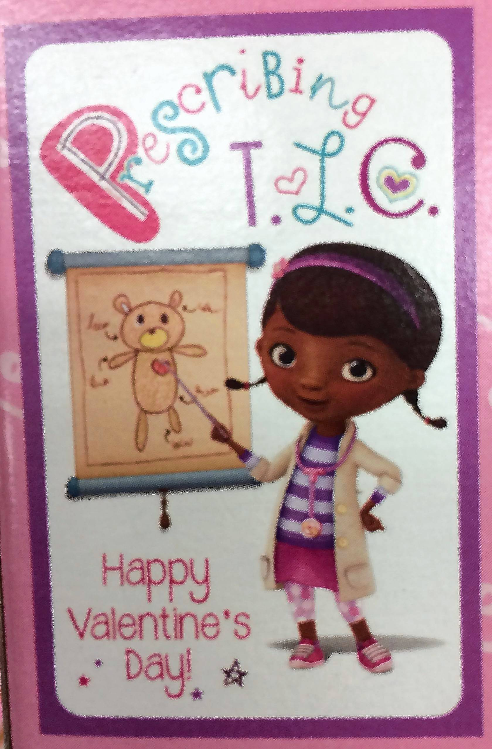 It might be corny, but this Valentine's Day card featuring Disney's Doc McStuffins shouldn't hurt any feelings.