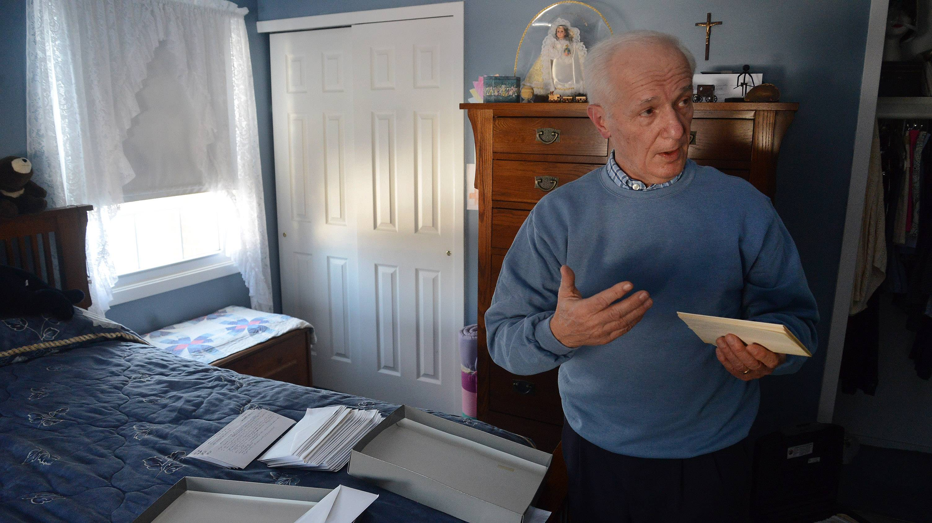 Dennis Depcik of Buffalo Grove explains how he found a box of old love letters from his late wife in a closet that show why they fell in love.