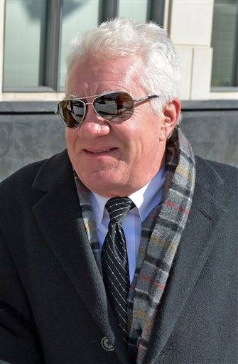 Former Freedom Industries owner and president Dennis Farrell walks into federal Court in Charleston W.Va., Thursday Feb. 11, 2016. Farrell is scheduled to be sentenced for his conviction on a pollution charge in a 2014 chemical spill into a Charleston river that prompted a tap water ban for 300,000 residents for days. (Tom Hindman/Charleston Gazette-Mail via AP)
