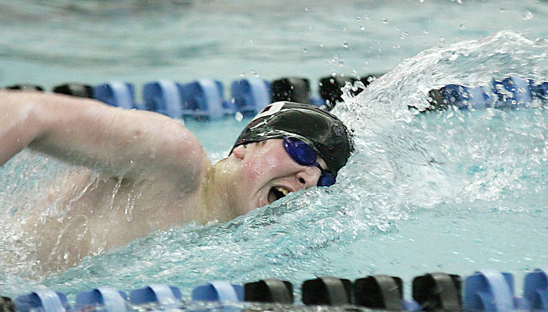 Barington's Mitch Gavars defends his 500-yard freestyle conference championship in Saturday's Mid-Suburban League meet hosted by Barrington. Diving starts at 9 a.m., with swimming scheduled to start at 1 p.m.