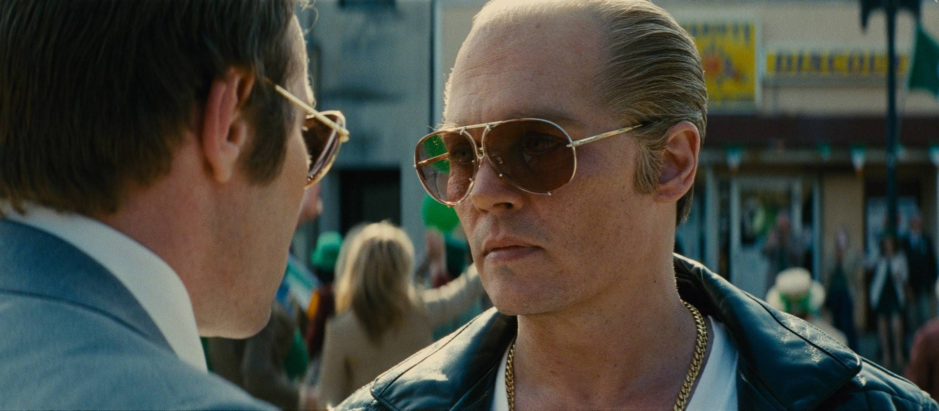 "Johnny Depp plays South Boston crime boss Whitey Bulger in the fact-based drama ""Black Mass."""