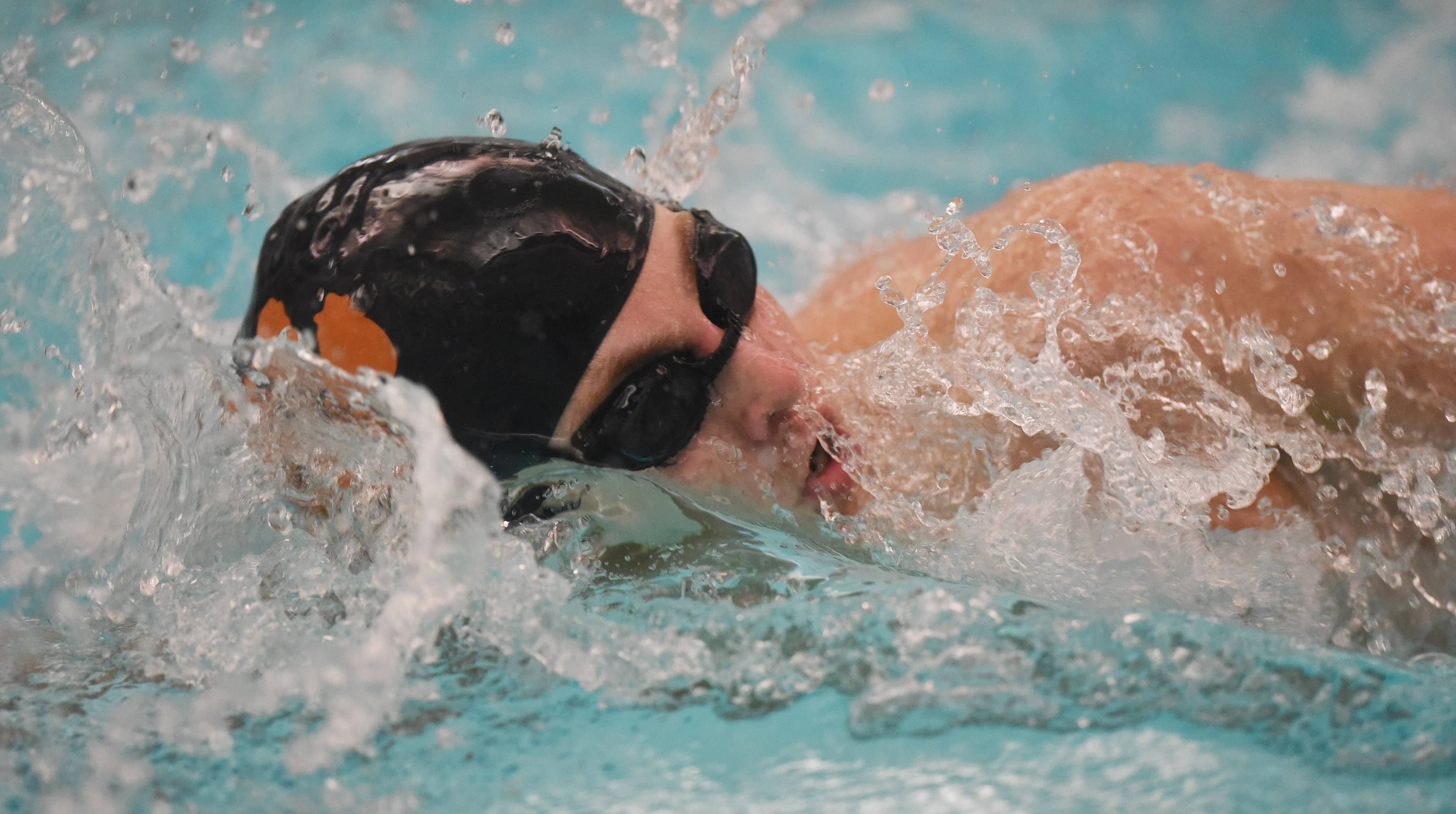 Libertyville's Sean Coughlin swims the 200-yard freestyle during the North Suburban Conference boys swimming meet at Vernon Hills on Saturday.