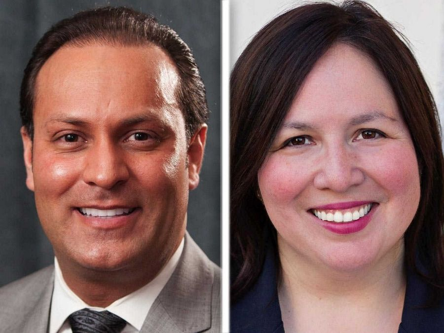 Steve Caramelli , left, and Cristina Castro , right, are Democratic candidates for 22nd state Senate District in the 2016 election.