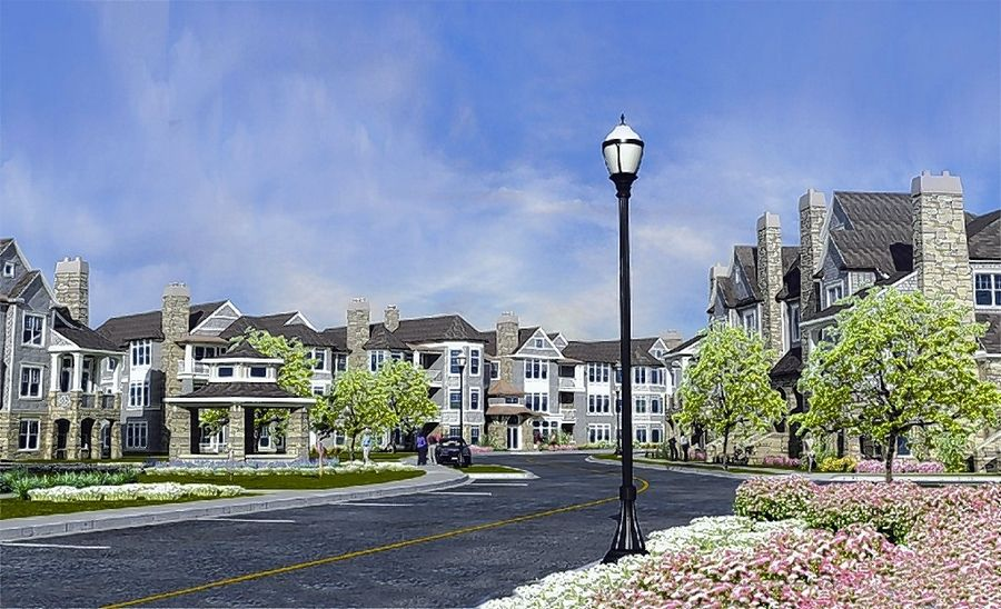 The Streetscape at Hamptons of Hinsdale is a condominium and townhouse project geared toward empty-nesters in Hinsdale.