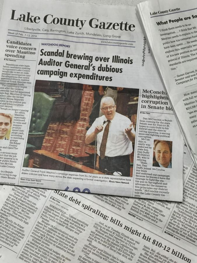 The Lake County Gazette began landing in some suburban mailboxes this week. Funded by the Liberty Principles PAC, the newspaper aims to support specific political candidates.