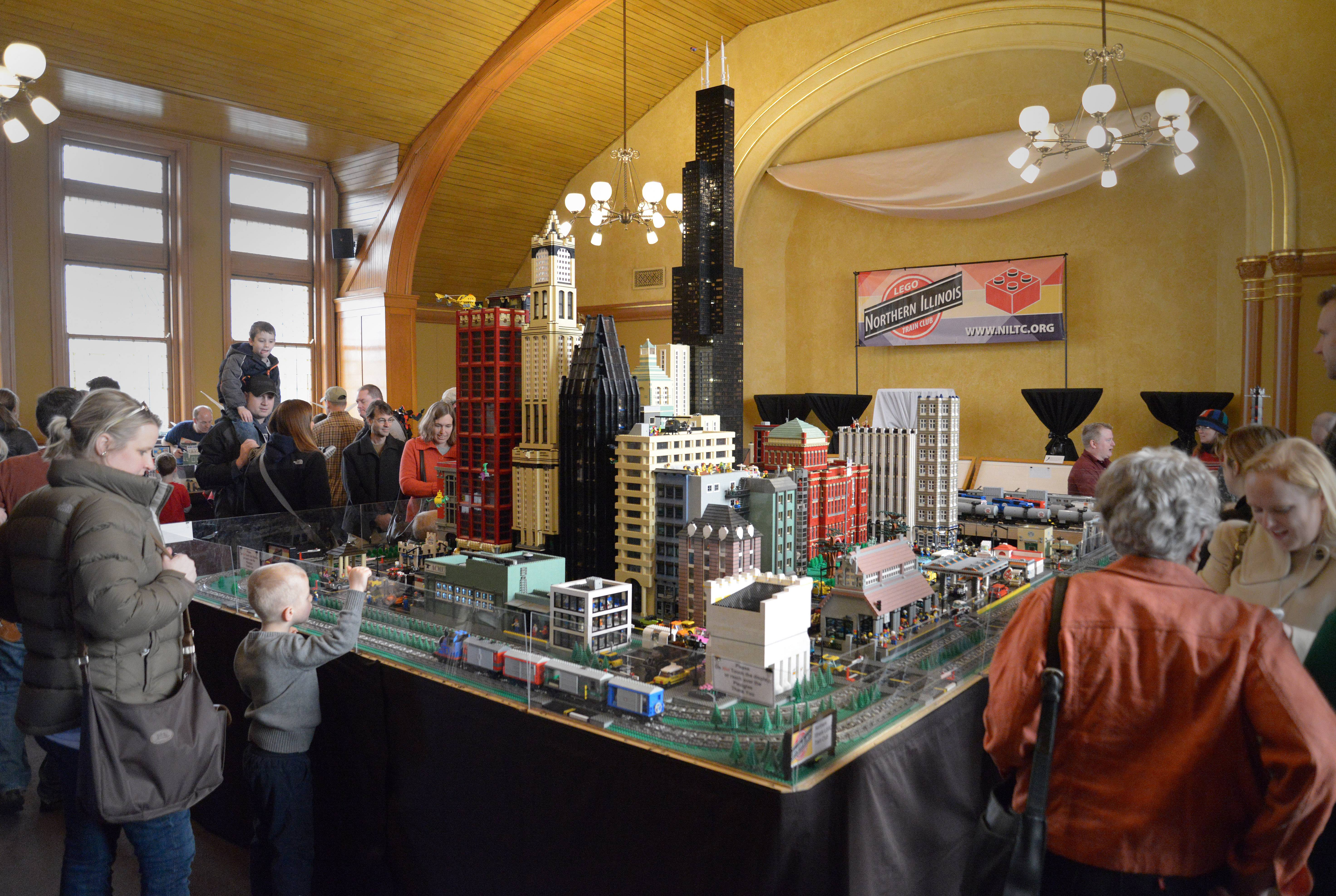 The Lego Train Show, running Saturday and Sunday at the DuPage County Historical Museum in Wheaton, connects with the museum's permanent railroad exhibit and one exploring historical children's toys.