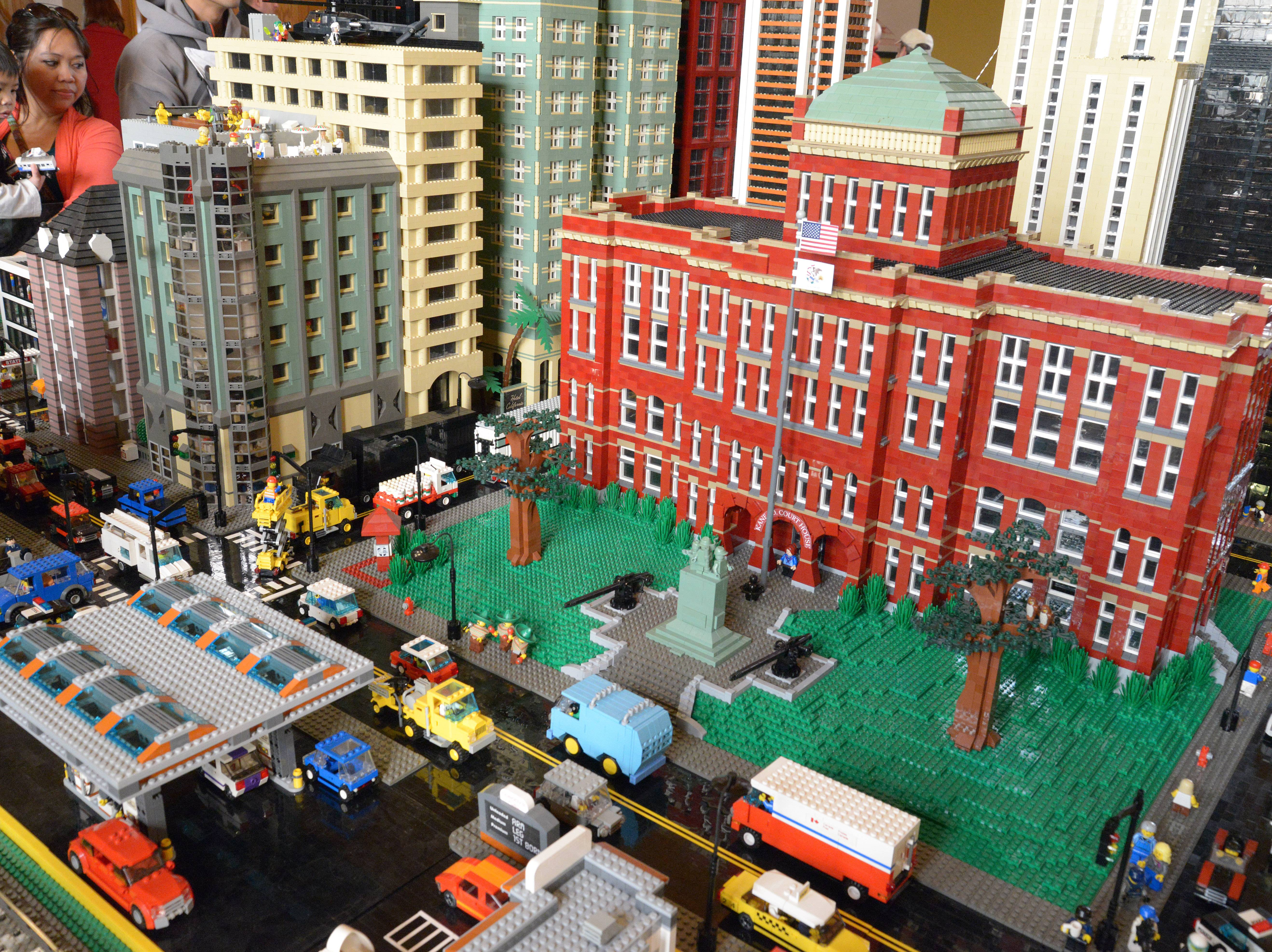 Members of the Northern Illinois Lego Train Club create large, detailed displays using only Lego parts. The club's display visits the DuPage County Historical Museum in Wheaton Saturday and Sunday.