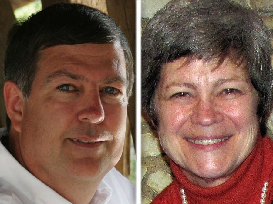 Carl Schultz, left, and Mary Lou Wehrli, right, are Republican candidates for DuPage County Forest Preserve District 5 in the 2016 election.