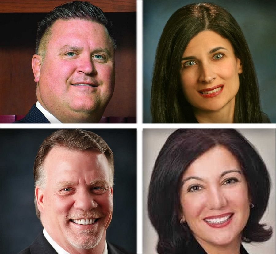 Upper from left, Richard Blass and Anna Manzo and lower from left, Zachary Wilson and Elaine Zannis are Republican candidates for DuPage County Board District 2 in the 2016 election.