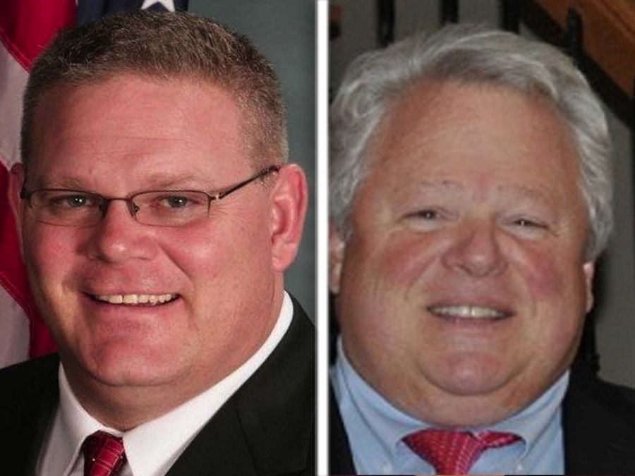 Rob Russell, left, and Bob Tiballi, right, are Republican candidates for   Kane County coroner in the 2016 election.
