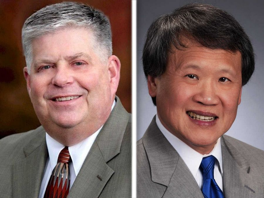 Terry Hunt, left, and Craig Lee, right, are Republican candidates for Kane County auditor in the 2016 election.
