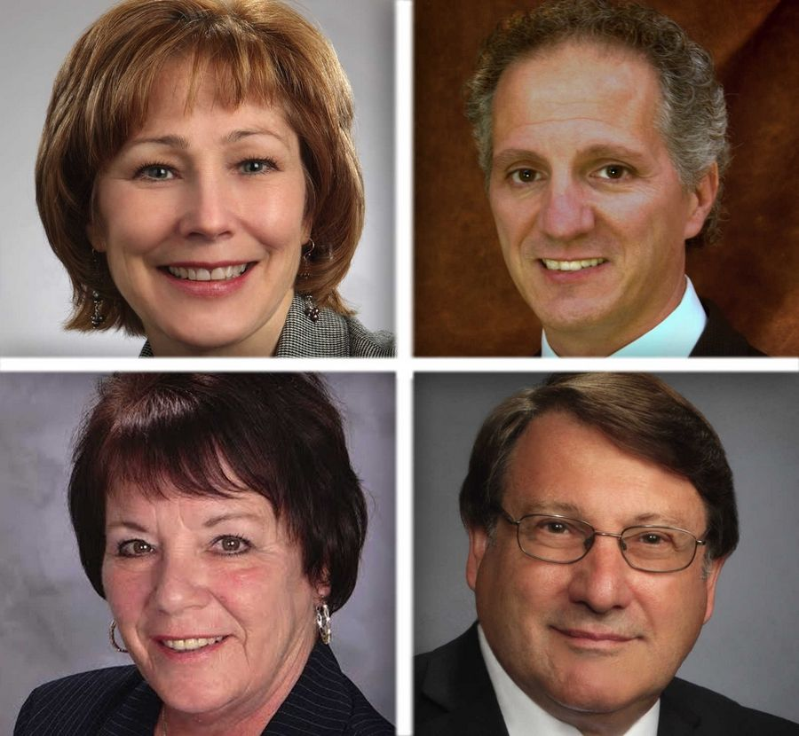 Upper from left, Nancy Gonsiorek and Nick Provenzano and lower from left , Cherie Rickert and Michael Walkup are Republican candidates for     McHenry County Board District 3 in the 2016 election.