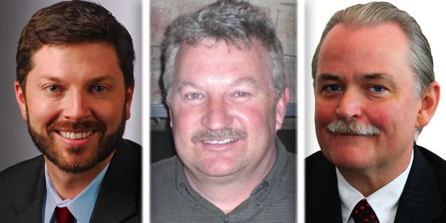 From left, Cameron Hubbard, John Reinert and Jeffrey Thorsen are Republican  candidates for McHenry County Board District 2 in the 2016 election.