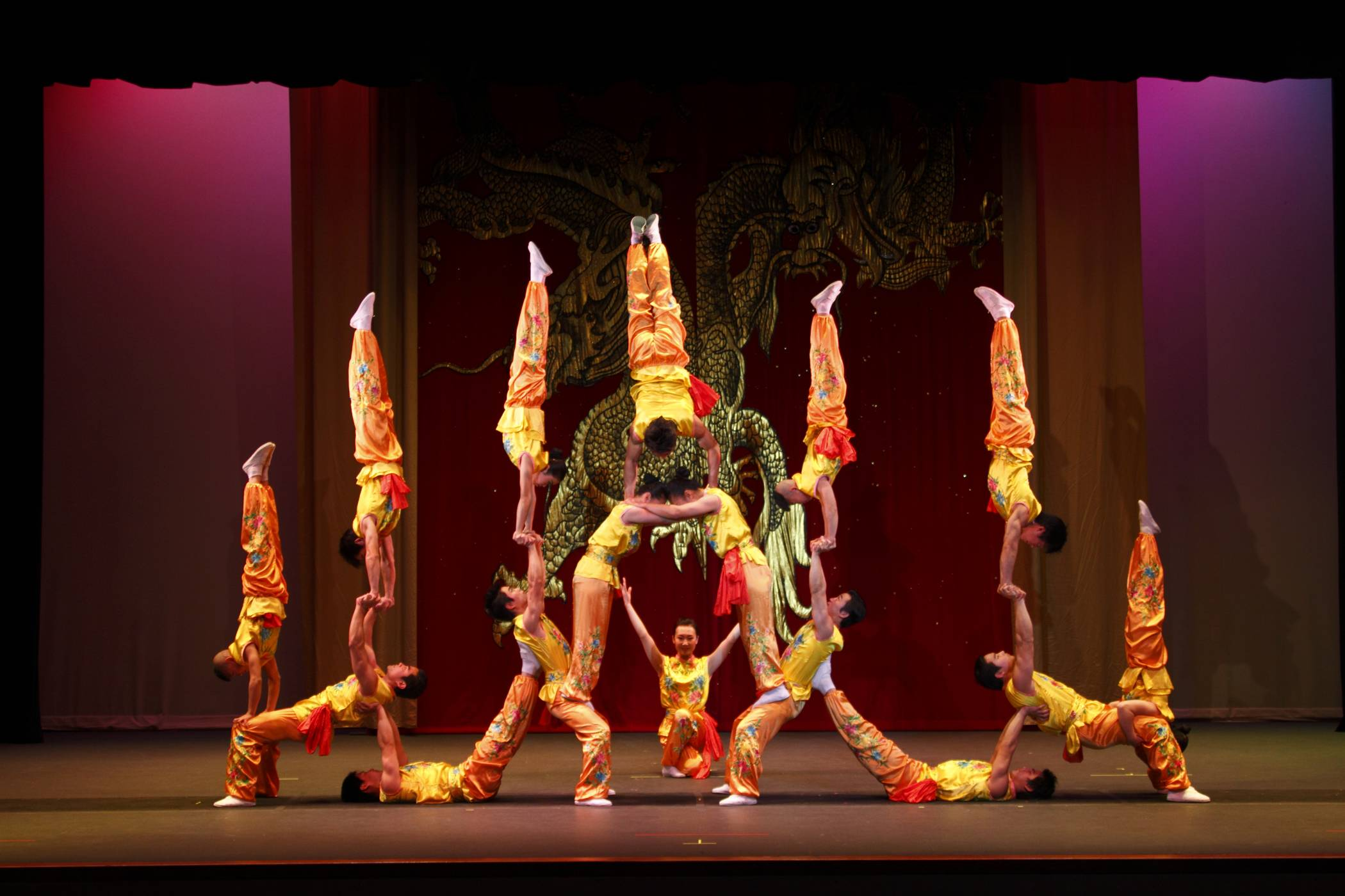 The Peking Acrobats perform at College of Lake County's Lumber Center for the Performing Arts in Grayslake on Friday, Feb. 19.