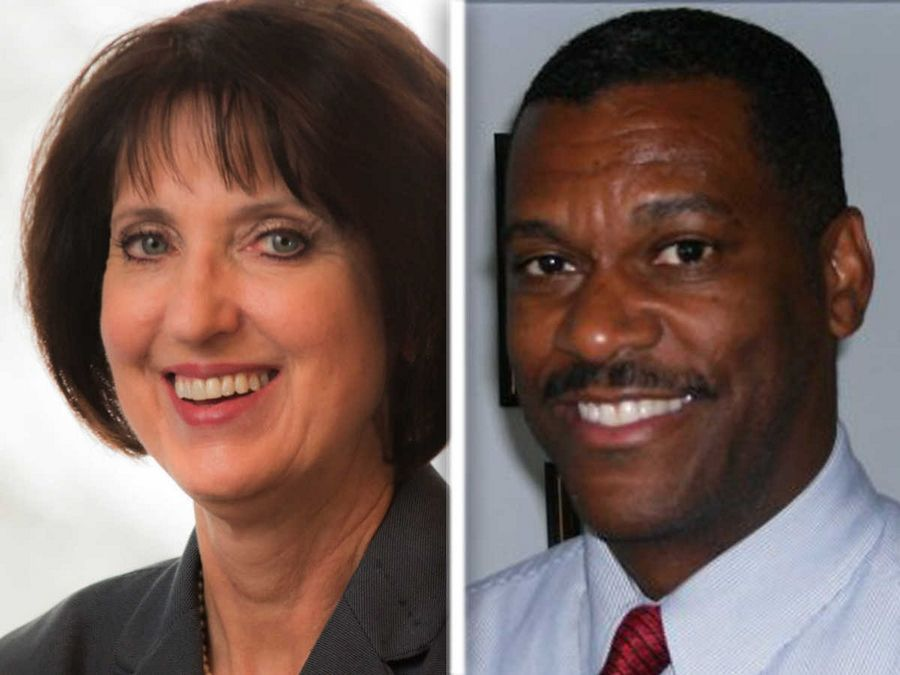 Gloria Charland, left, and Roger T. Smith, right, are Democratic candidates for Lake County Board District 5.