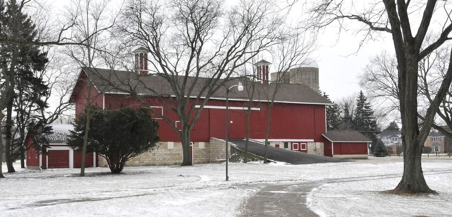 The Greene Barn is one of several historical buildings located on DuPage Forest Preserve District property.