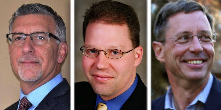 From left, Joe Calomino, Michael Skala and Andrew Snarski are Republican candidates for McHenry County Board District 5 in the 2016 election.