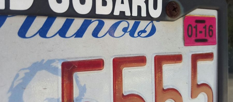 Schaumburg police are on the lookout for expired license plate stickers and have been issuing $50 tickets on parked cars that have lapsed registration.