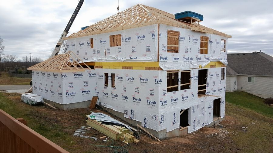 Construction got underway late last year on the house in Johnsburg being built for the Folds of Honor military charity.