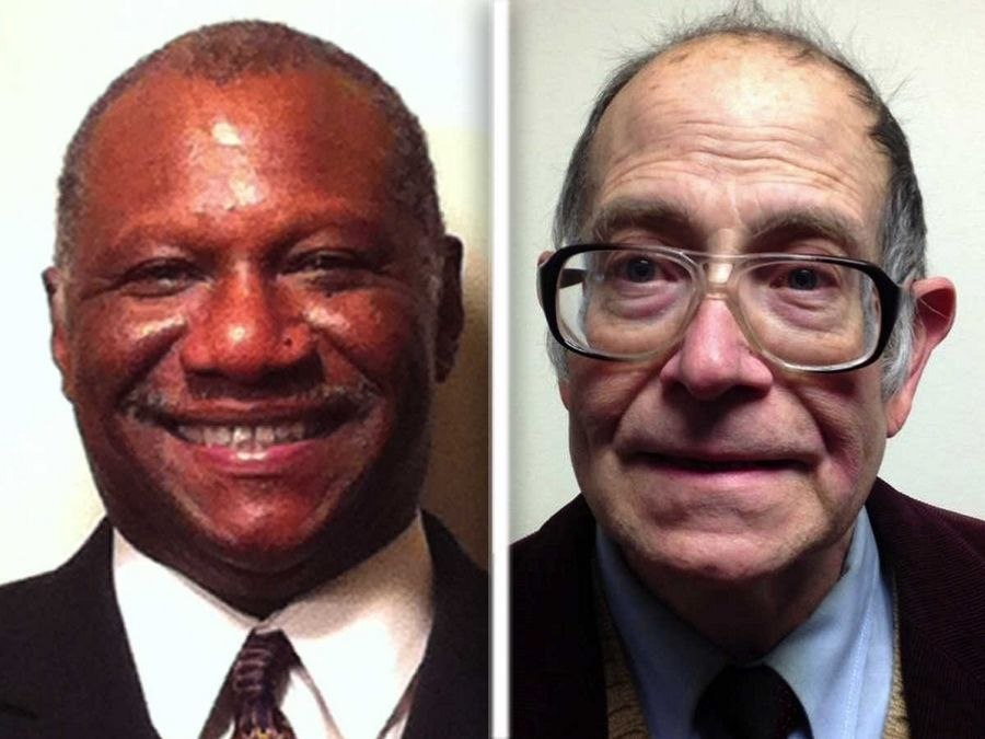 Willie Clements, left, and Randy Hopp are Democratic candidates for Kane County Board District 22.
