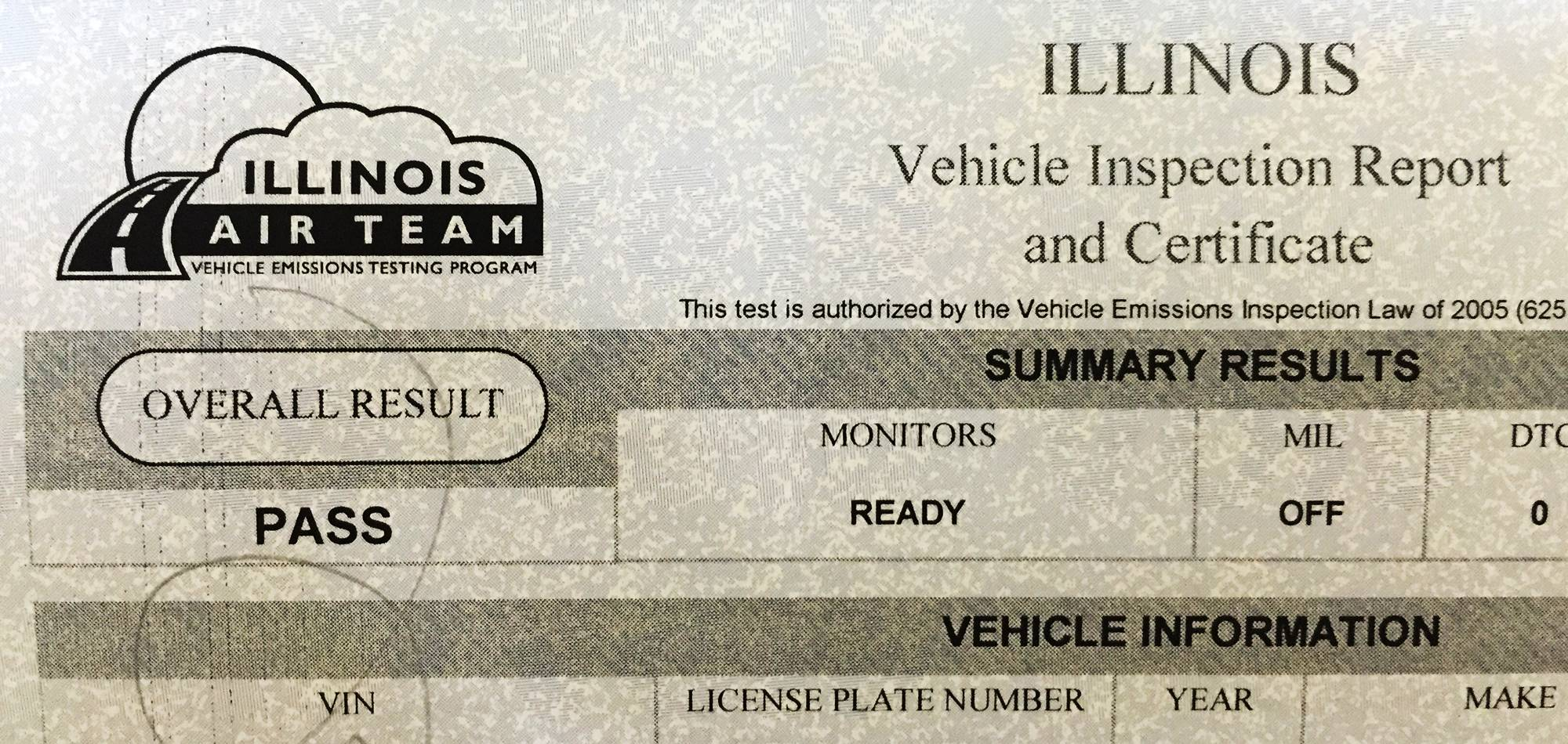 You won't be seeing many Illinois vehicle emissions reports until a state budget impasse is resolved.
