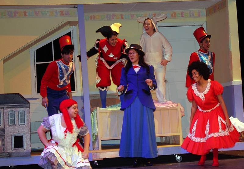 Toys For Mary Poppins : Mary poppins lands at maine east high school