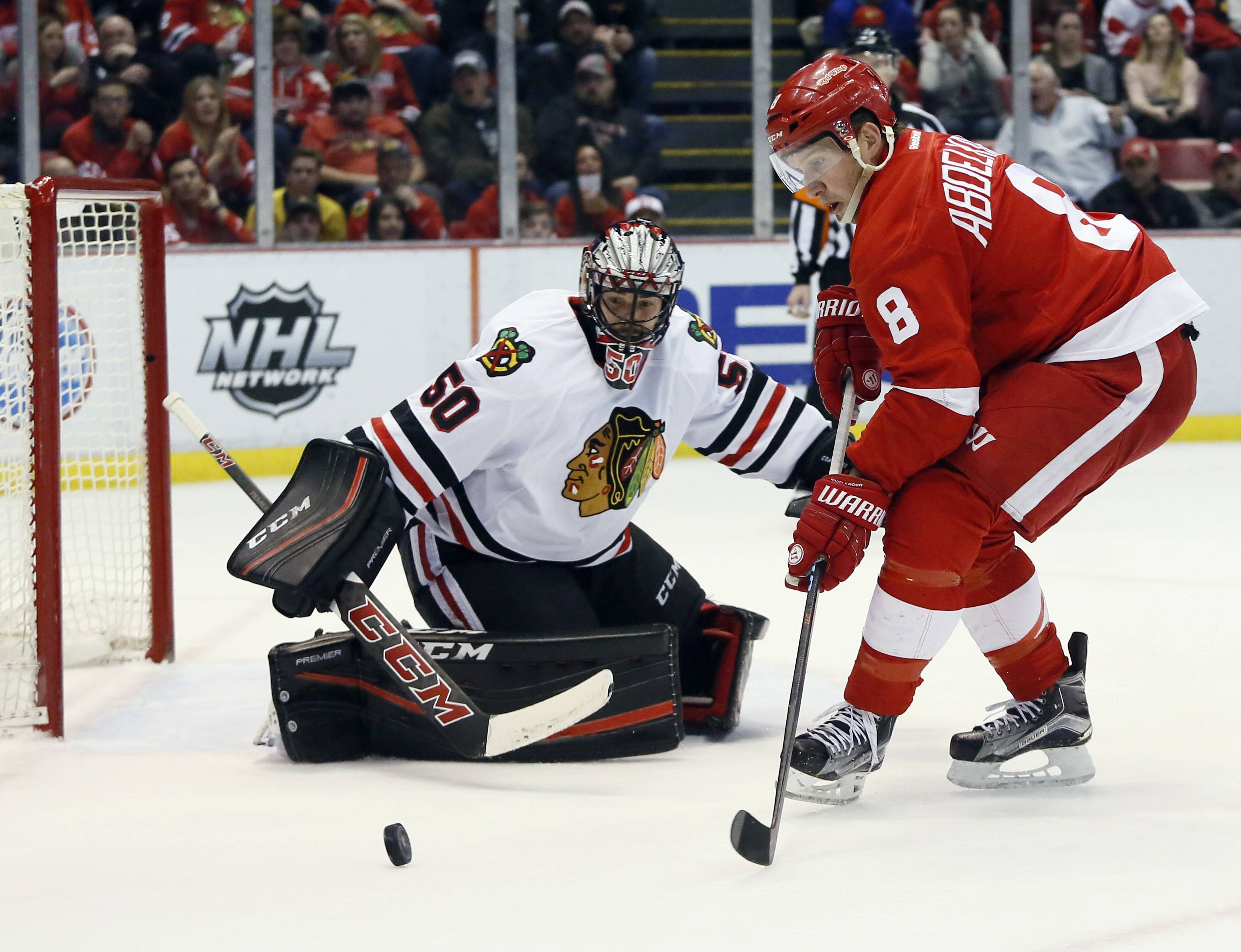 Rough night at the Joe as Red Wings fall to Chicago, 5-2 AR-160309655