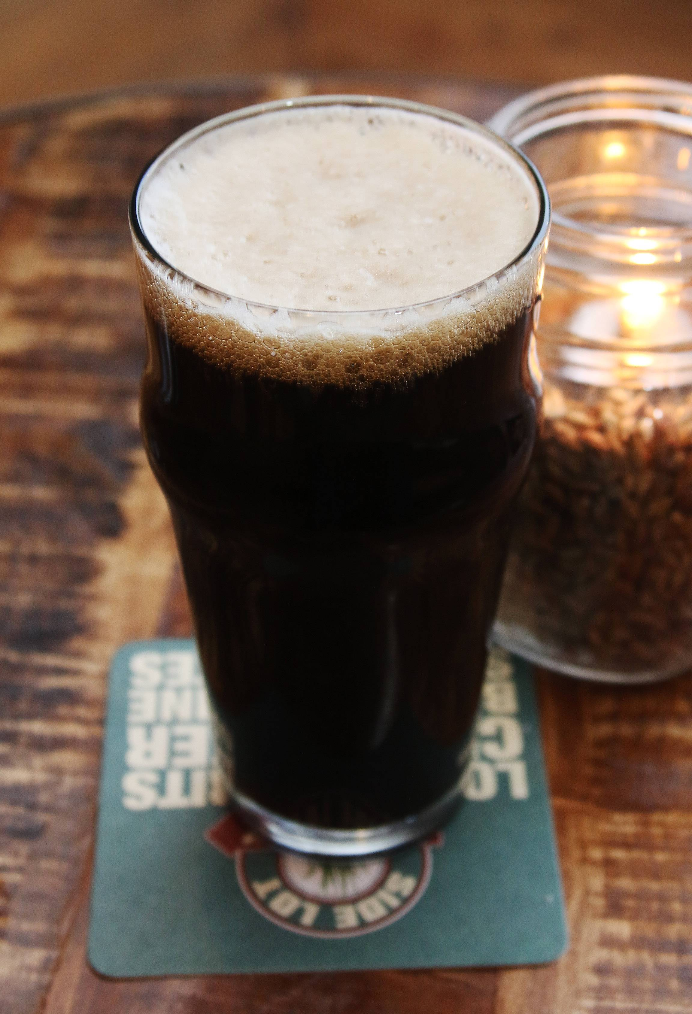 Smokin' Squirrel English Brown Ale is brewed at Side Lot Brewery in Wauconda.