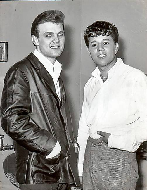 Tommy Roe, left, and Chris Montez toured England together in 1963.