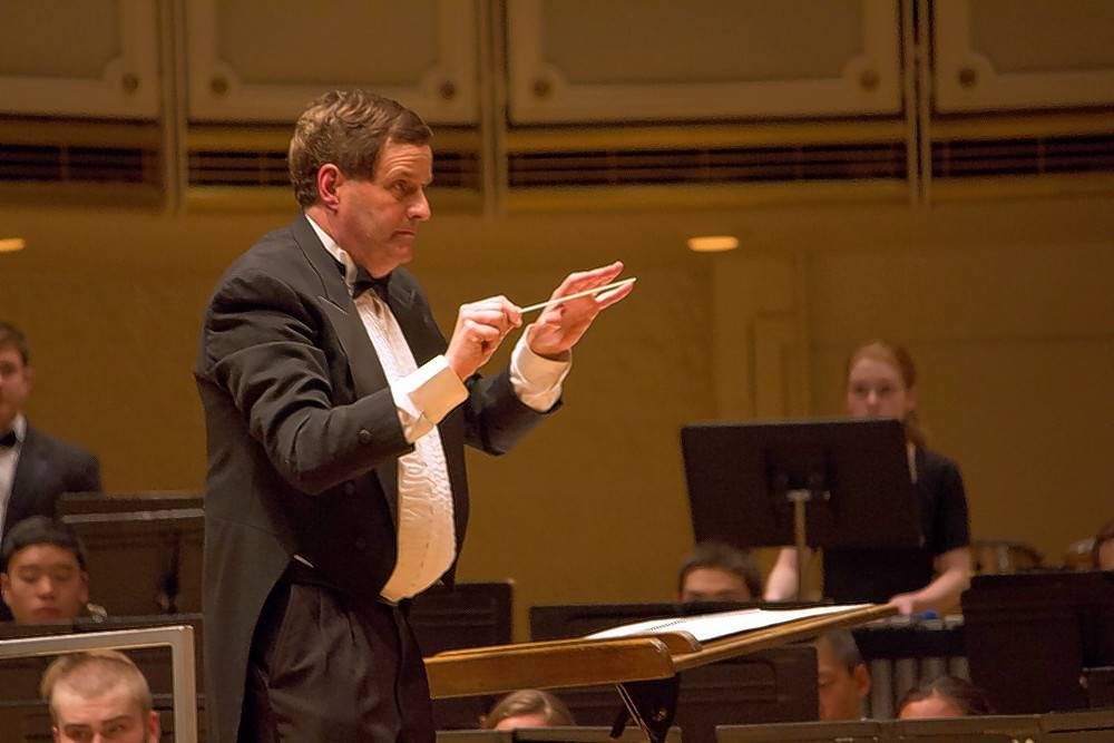 One of the highlights of Jacobi's 31-year career at Buffalo Grove High School was performing at Chicago's Symphony Center with the Buffalo Grove Symphonic Band in 2015.