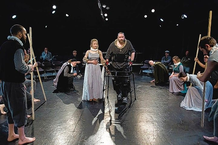 "Accompanied by his new wife, Anne (Olivia Cygan), the newly crowned Richard (Michael Patrick Thornton) begins his reign as ""Richard III,"" in a production co-sponsored by the Rehabilitation Institute of Chicago."