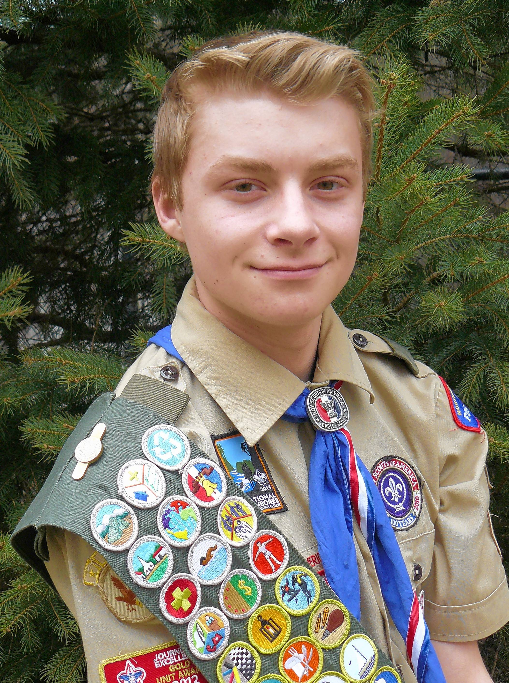 Hoffman Estates resident Tyler Matuszczak earned the rank of Eagle Scout at age 15.
