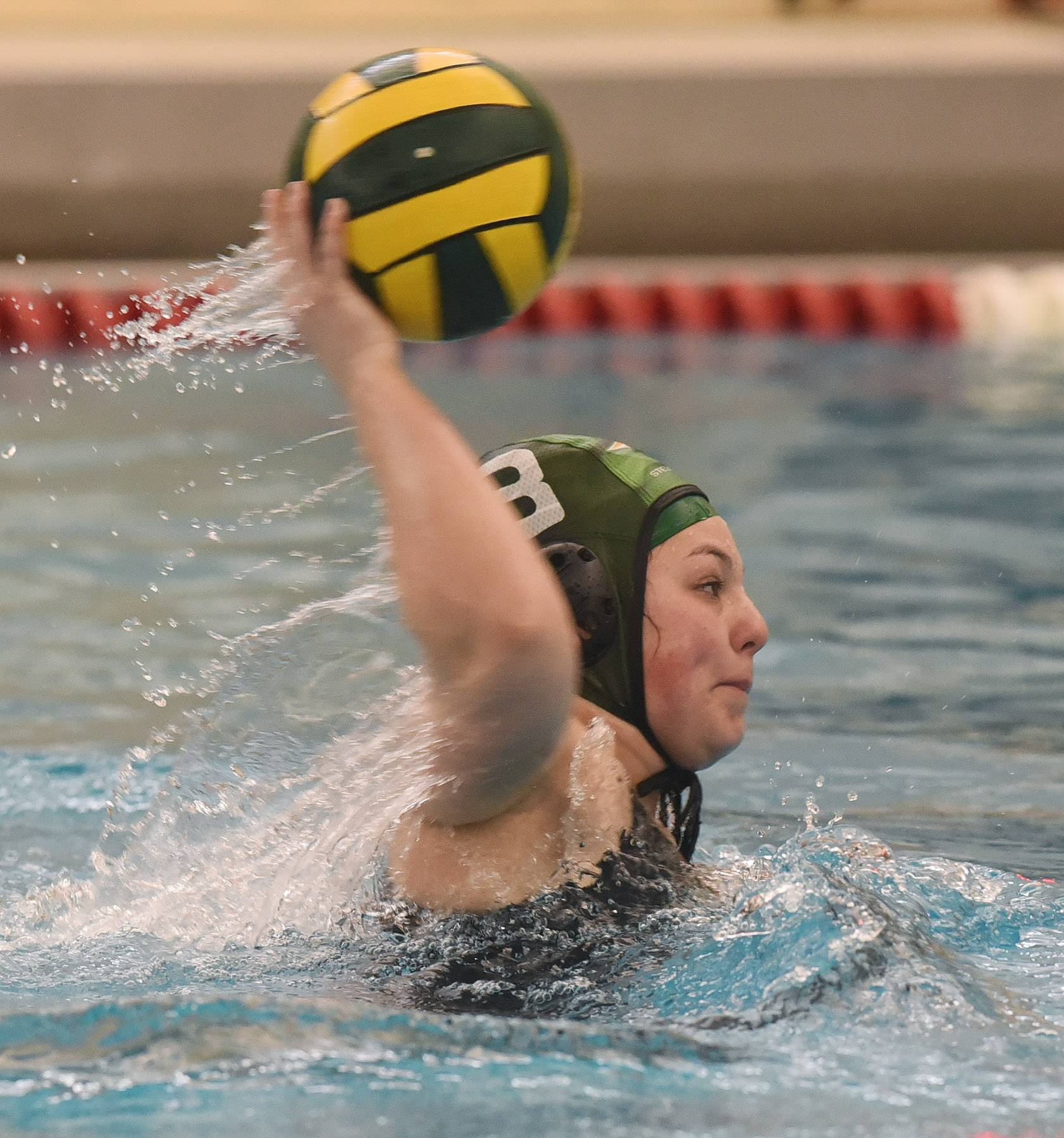 Stevenson's Vicky Kolotov shoots during her team's game against Palatine during Saturday's quad at Stevenson.