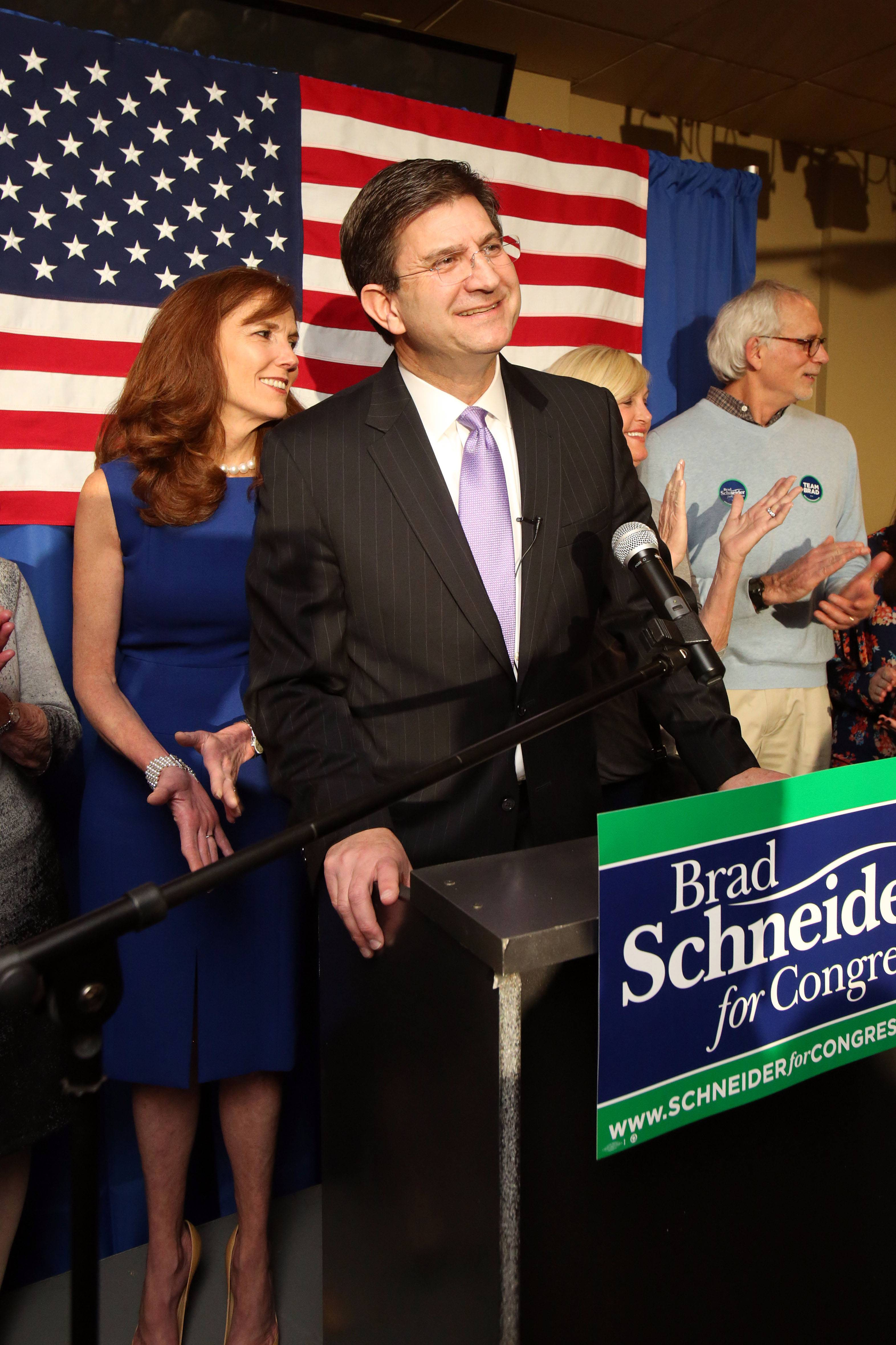 Schneider declares victory in 10th Congressional District Democratic primary