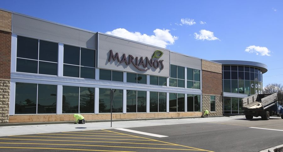 A new Mariano's grocery store takes shape at 1212 S. Naper Blvd. in Naperville, where the chain is expected to open in the place of a former Dominick's later this year.