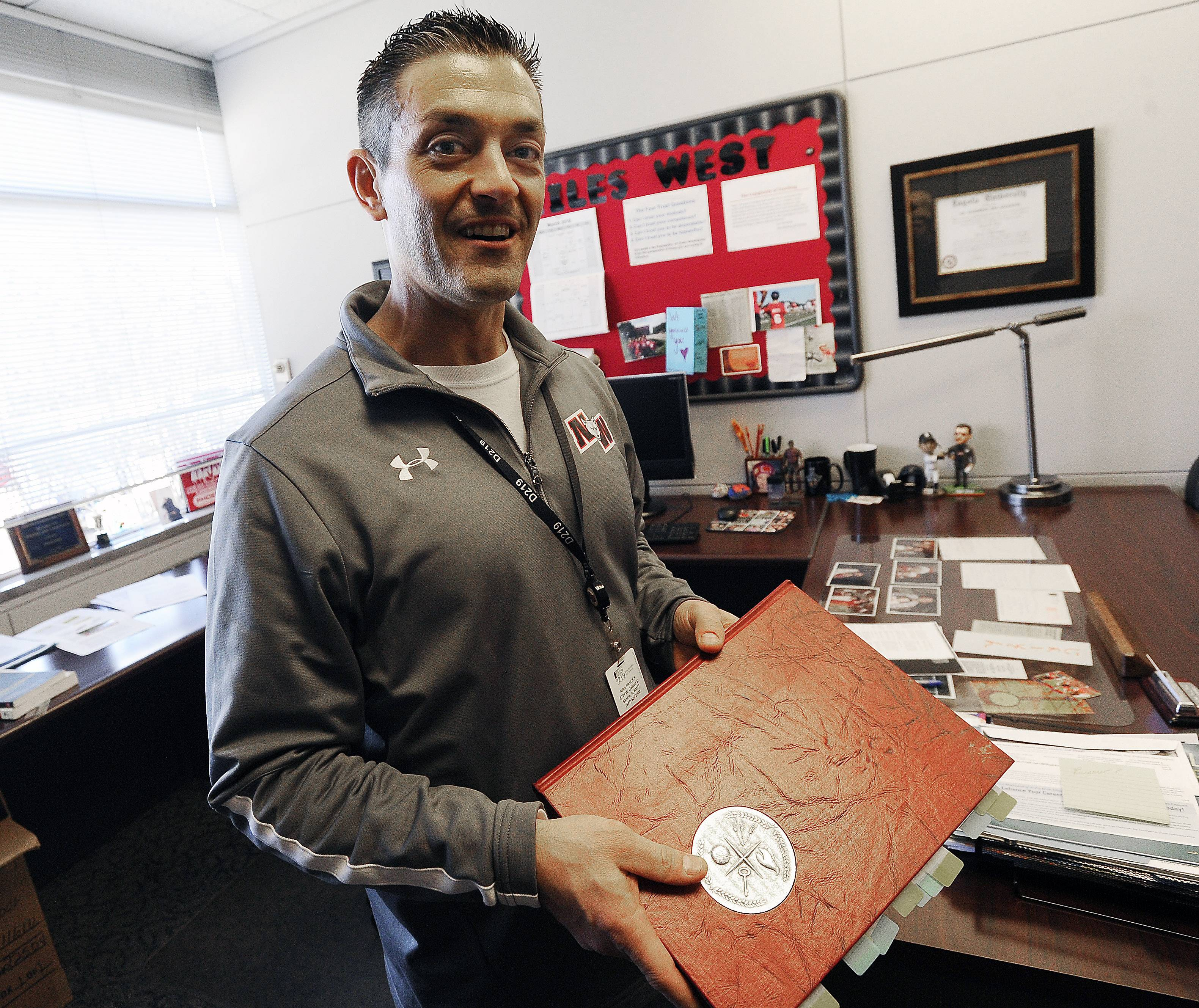 Niles West Principal Jason Ness talks Wednesday about the excitement over Merrick Garland, Niles West High School valedictorian in 1970, being selected by President Obama as his nominee to fill a vacancy on the Supreme Court.