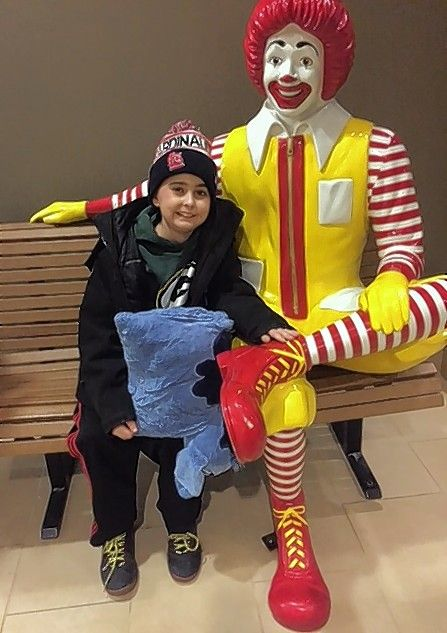 Joshua McFadden, 11, visits the Ronald McDonald House near Lurie Children's Hospital of Chicago where he is receiving treatment for a rare form of brain cancer called DIPG.