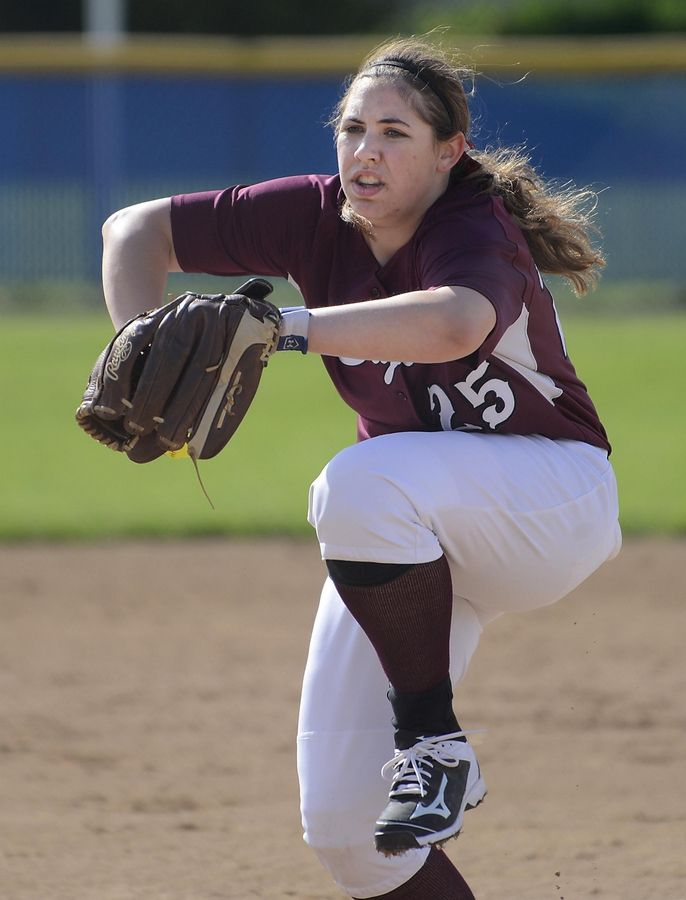 Elgin senior Jessica Rago returns to the pitchers circle this season.