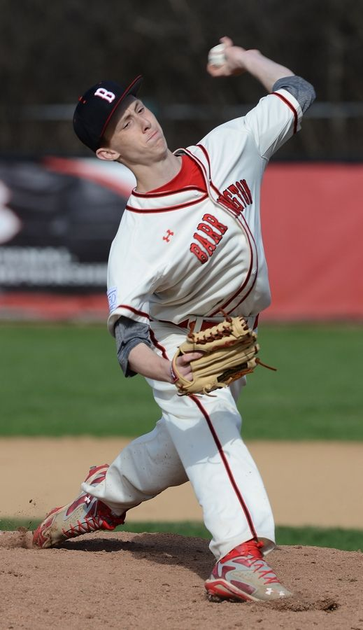 Pitching standout Brooks Gosswein delivers last season for Barrington.