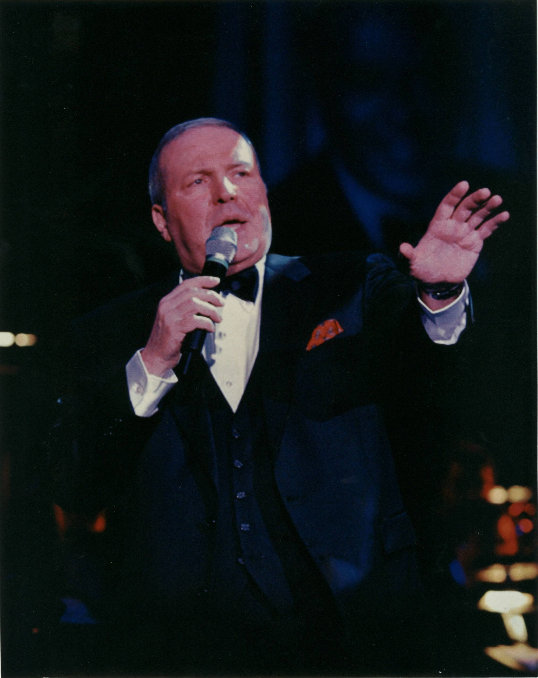 Frank Sinatra Jr. sings during a concert performance. Sinatra Jr., 72, died March 16 in Florida.