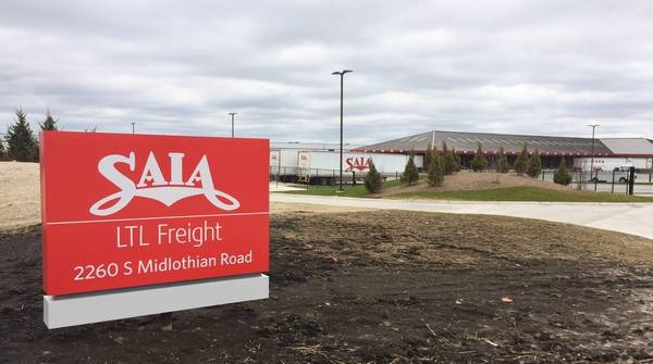 The SAIA truck terminal on Peterson Road in Grayslake began operations in mid-February.