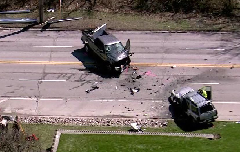 One person was killed Tuesday morning in this crash on Route 31 near Mooseheart.