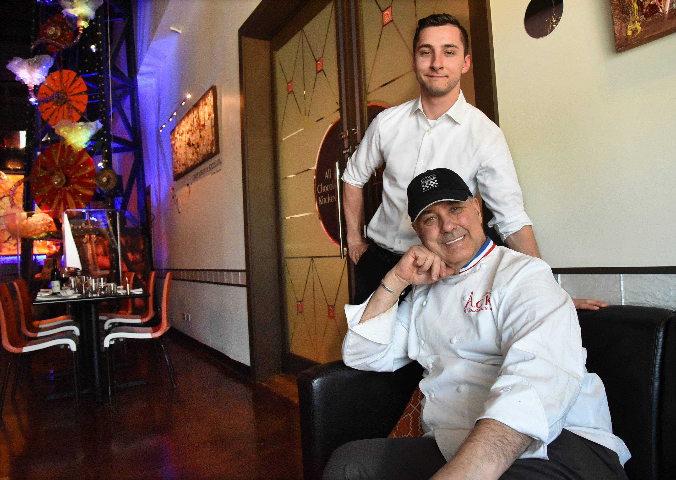Chef Alain Roby expanded on his All Chocolate Kitchen in Geneva with the recent opening of Primo, which his son, Adrian Roby, manages.