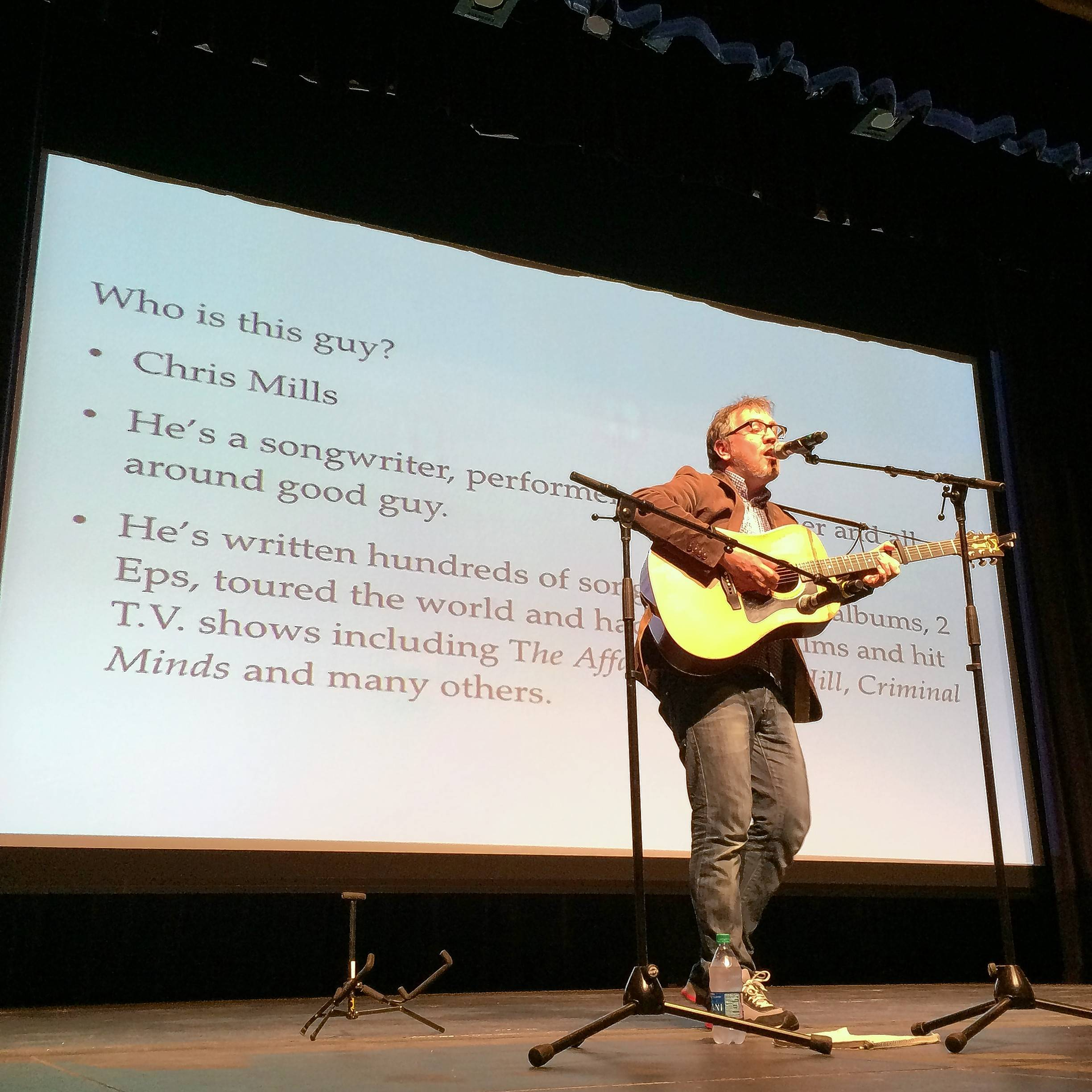 Musician urges Libertyville High students not to wait for inspiration during Writers Week presentation