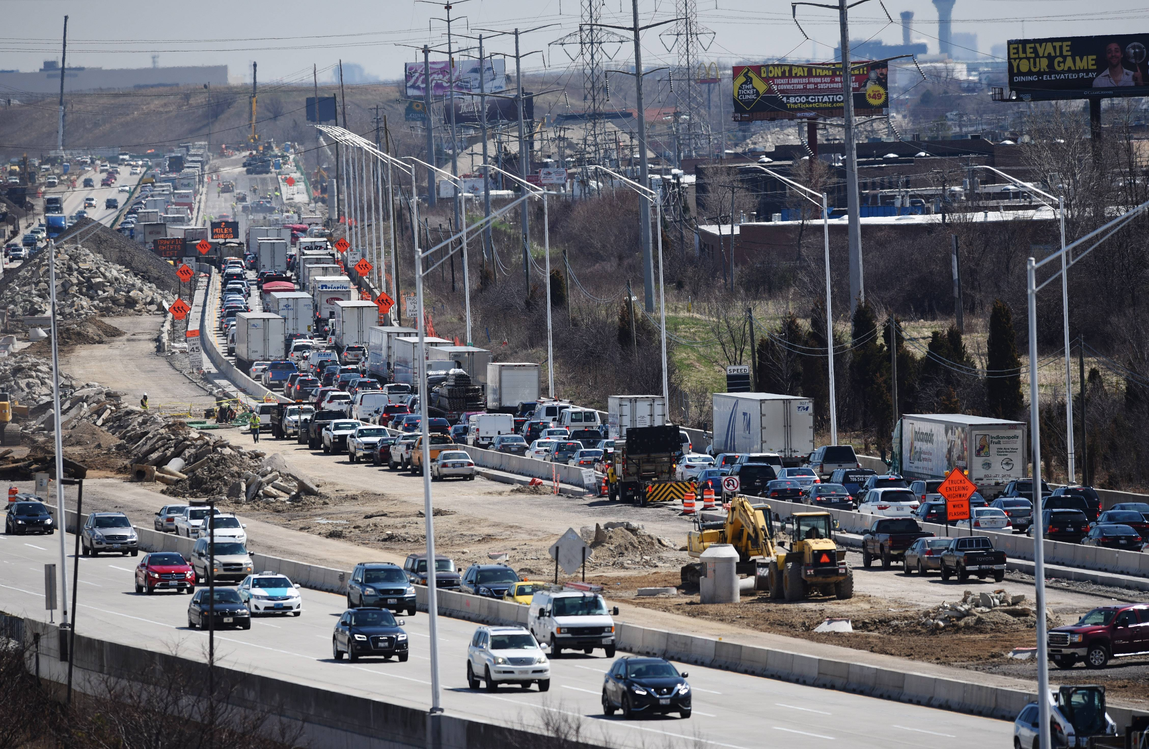 Traffic snarled all day around fatal I-90 construction ...