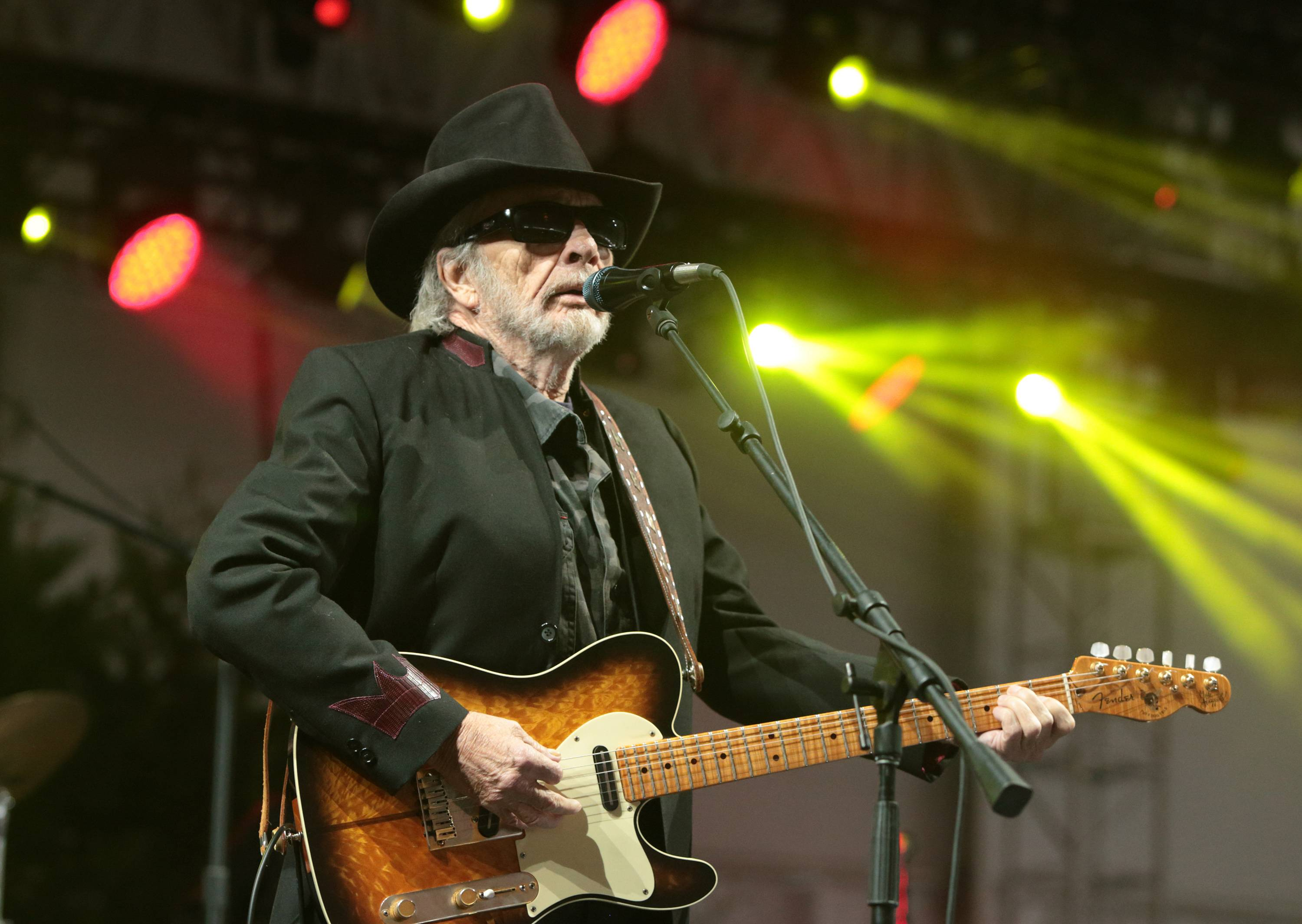 In this June 28, 2015 file photo, singer-songwriter Merle Haggard performs at the 2015 Big Barrel Country Music Festival in Dover, Del. Haggard died of pneumonia, Wednesday, April 6, 2016, in Palo Cedro, Calif. He was 79.