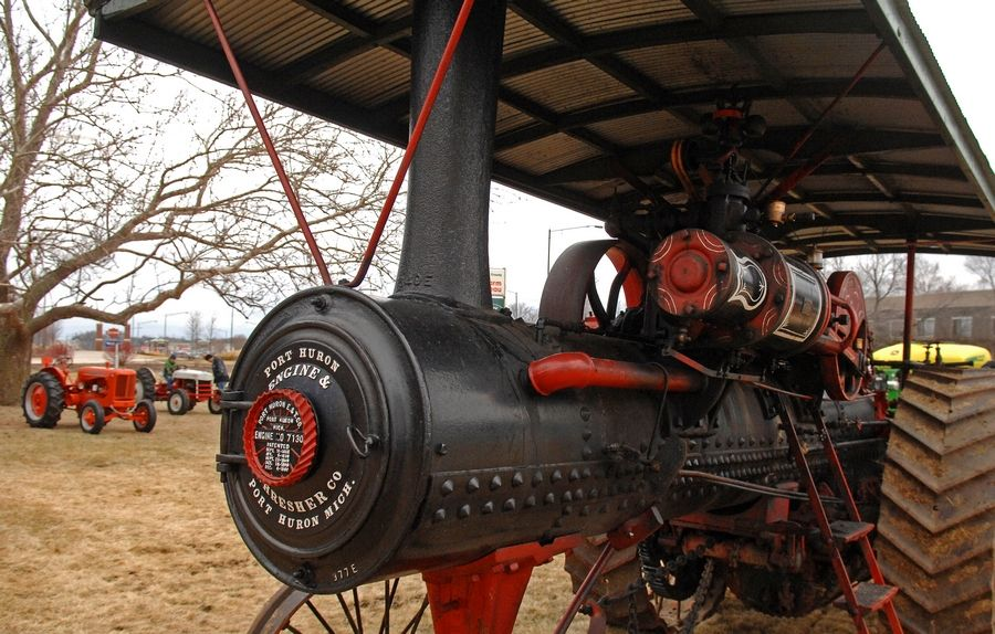 A 1913 steam tractor will be the oldest on display at the Touch-A-Tractor event this weekend.