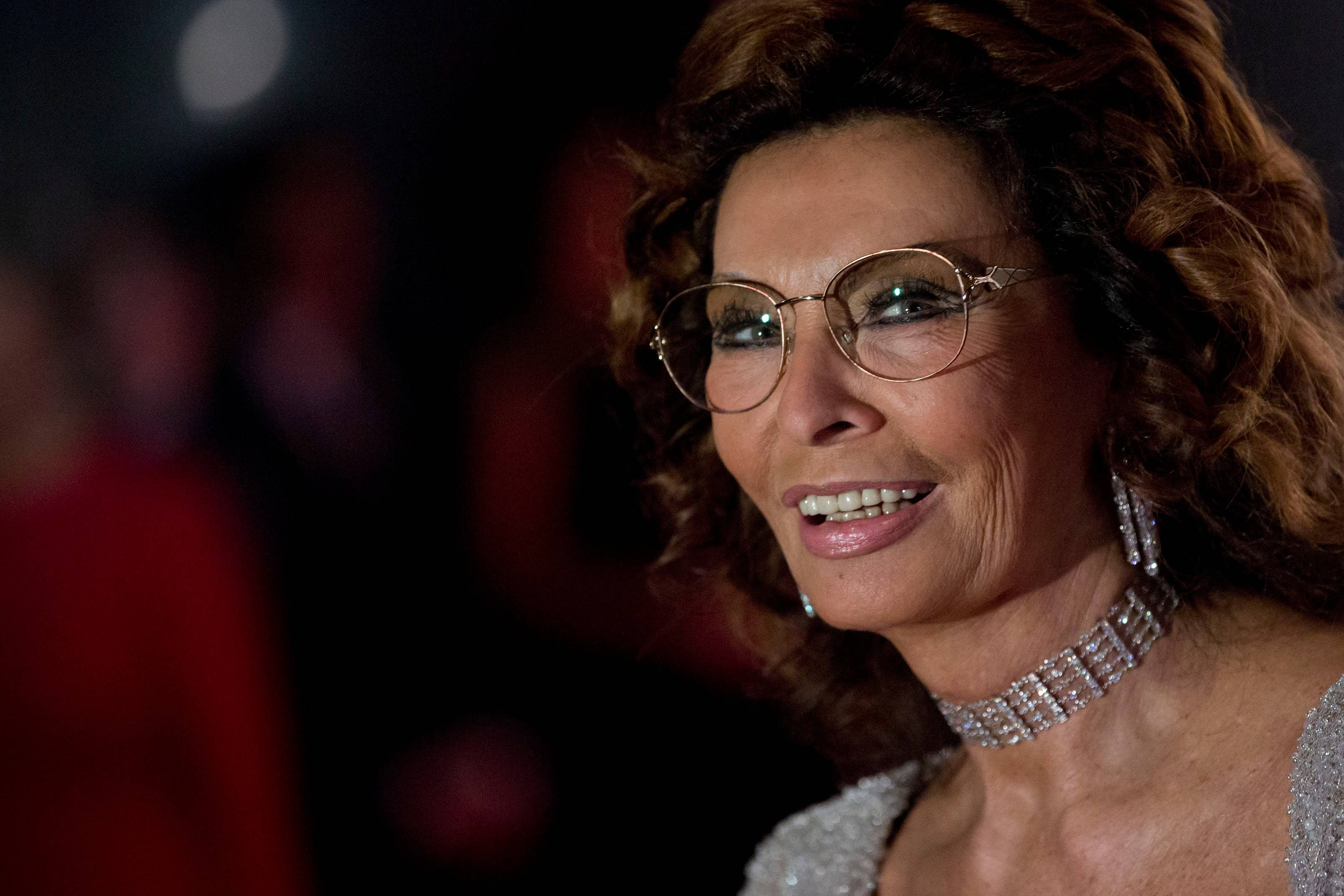 "Italian actress Sophia Loren poses for photos at a red carpet event in Rio de Janeiro, Brazil, in 2012. She recently stopped by the Arcada Theatre to promote her latest book, ""Yesterday, Today, Tomorrow … My Life as a Fairy Tale."""