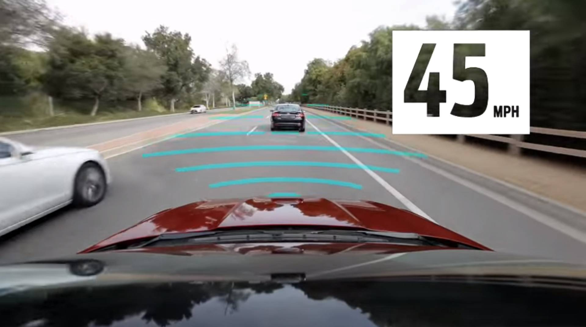 Ford says its adaptive cruise control technology that supports stop-and-go traffic.